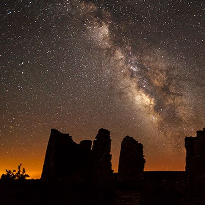 The Milky Way over Hovenweep National Monument