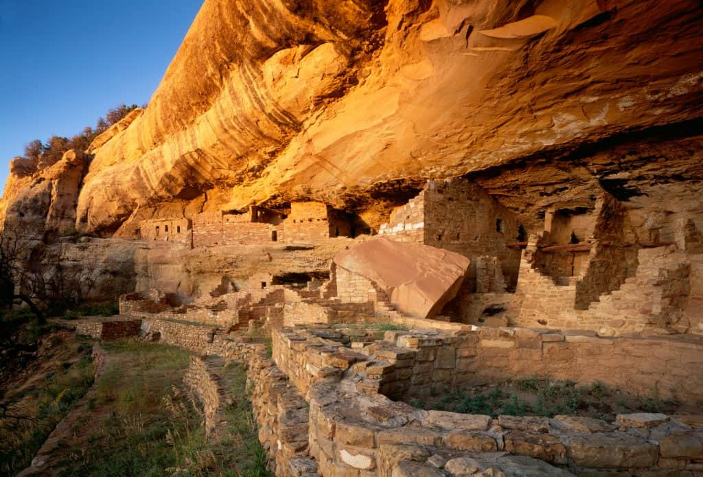 Cliff dwelling in Mesa Verde National Park