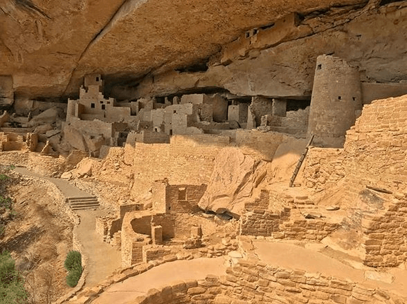 Ancient cliff dwellings in SW Colorado near Cortez.