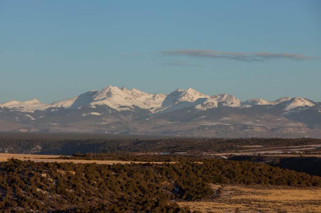 Mountain vista in Mesa Verde Country